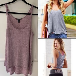 EUC Victoria's Secret Drapey tank Ruby wine